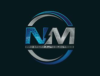 N.M. Pro Spark Auto Electrics logo design