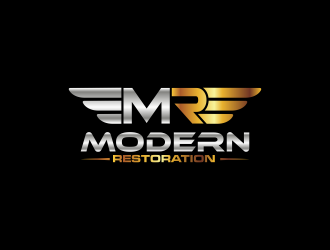 modern restoration logo design