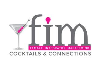 FIM Cocktails & Connections logo design winner