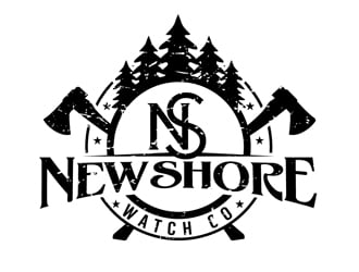NewShore watch co logo design