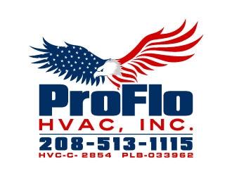 ProFlo HVAC, Inc. logo design