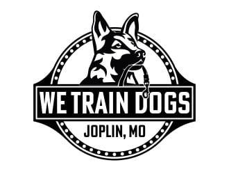 We Train Dogs logo design