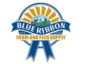 Blue Ribbon Farm and Feed Supply logo design