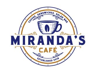 Mirandas Café logo design