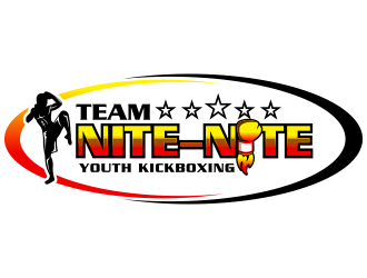 TEAM NITE-NITE Youth Kickboxing Logo Design