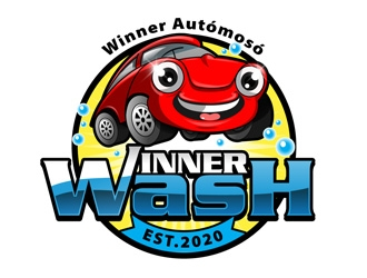 Winner Car Wash logo design winner