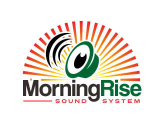 Morning Rise Sound System logo design