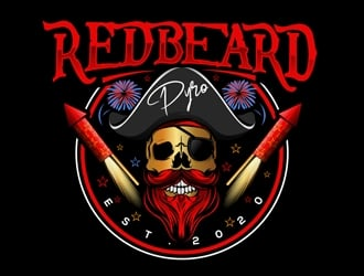 Redbeard Pyro logo design