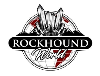 rockhound world logo design