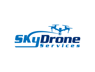 SkyDrone Services logo design