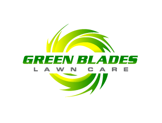 Green Blades Lawn Care logo design