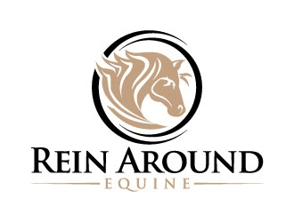 Rein Around Equine Logo Design