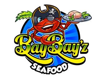 Bay Bay'z Seafood logo design
