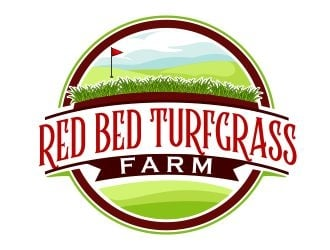 RED BED TURFGRASS FARM  logo design