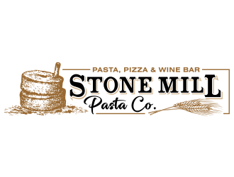 Stone Mill Pasta Co.  logo design