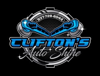 Cliftons Auto Shine logo design