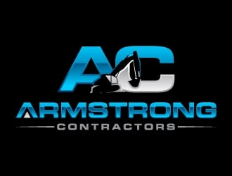 Armstrong Contractors logo design