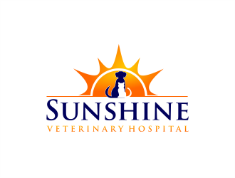 Sunshine Veterinary Hospital logo design