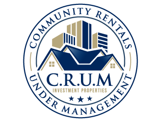 C.R.U.M investment properties// (C.R.U.M) Community Rentals Under Management  logo design