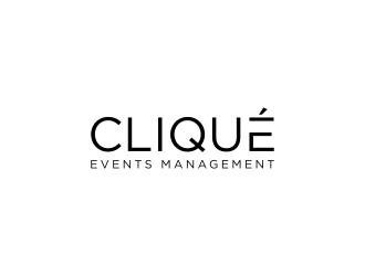 Cliqué Events Management  logo design