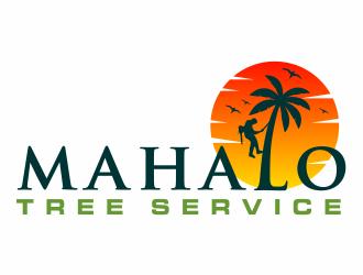 mahalo tree service logo design