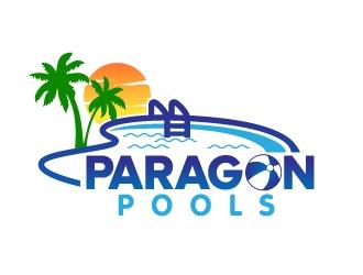 Paragon Pools logo design