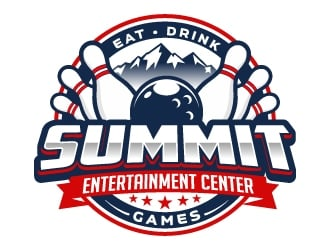 Summit Entertainment Center logo design