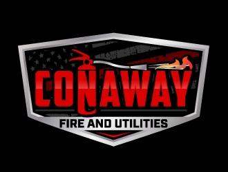 Conaway Fire and Utilities  logo design