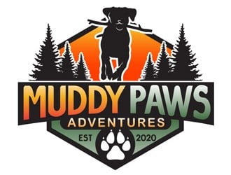 Muddy Paws Adventures logo design