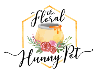 The Floral Hunny Pot logo design