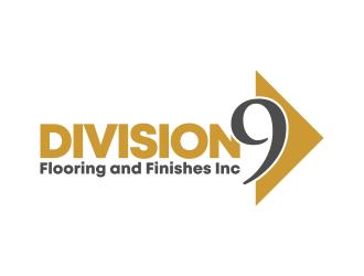 Division 9 Flooring and Finishes Inc logo design by ekitessar