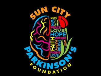 Sun City Parkinsons Foundation logo design