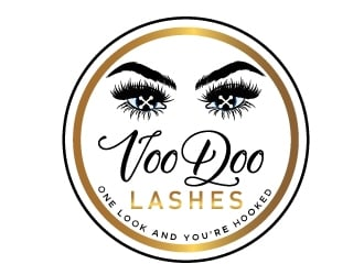 VooDoo Lashes logo design