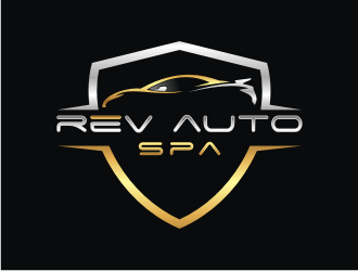 REV Auto Spa logo design