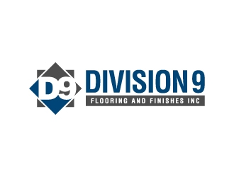 Division 9 Flooring and Finishes Inc logo design by jaize