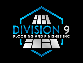Division 9 Flooring and Finishes Inc logo design by done