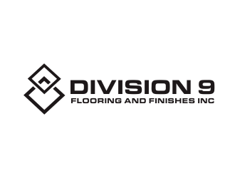 Division 9 Flooring and Finishes Inc logo design by Greenlight