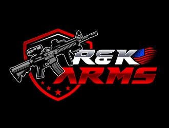 R & K Arms logo design