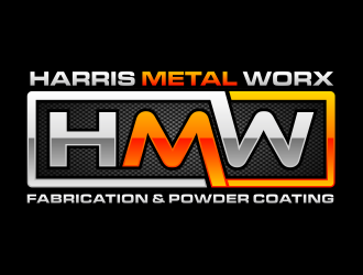 Harris Metal Worx logo design