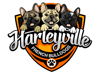 Harleyville French Bulldogs logo design