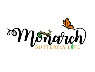 Monarch Butterfly Life logo design