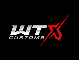 WTX Customs logo design