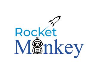 Rocket Monkey logo design by qqdesigns