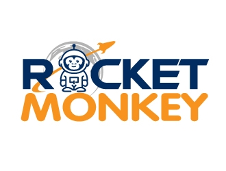 Rocket Monkey logo design by jaize