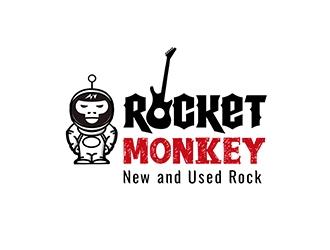 Rocket Monkey logo design by PrimalGraphics