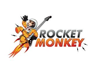 Rocket Monkey logo design by Shailesh