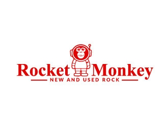 Rocket Monkey logo design by AYATA