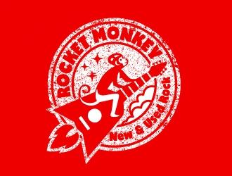 Rocket Monkey logo design by josephope