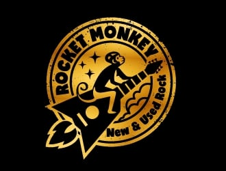 Rocket Monkey logo design