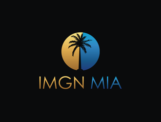 IMGN MIA (its an abbreviation of Imagine Miami) logo design